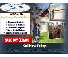 Same Day Garage Door Repair and Installation Spring, Texas