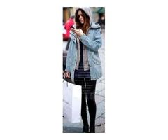 Winter Jackets 2016 Fashion New Women Long Sleeve Hooded Loose Denim Coats