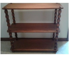 3 SHELF WOOD SPINDLE BOOKCASE