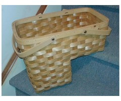 WICKER STORAGE STAIR STEP BASKET-NEW
