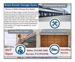 Same-day garage door repair and installation service in Sugar Land
