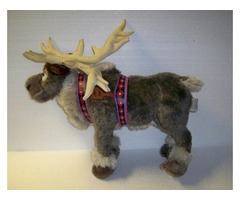 "Sven Plush 16"" Disney Frozen Reindeer Stuffed Animal Gray Moose Antlers Kids Toy"