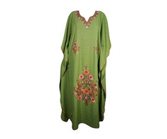 Womens Evening Caftan Kashmiri Embroidered Kaftan Cover Up