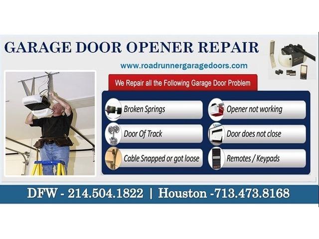 Professional Garage Door Opener Repair 75034 Tx