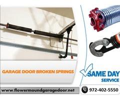 Same Day Broken Garage Door Spring Repair and Replacement in Flower Mound, TX