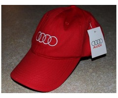 New Audi Hat, red with tags