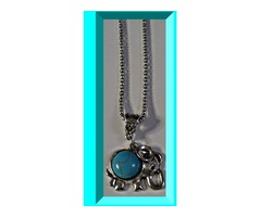 Tibetan Silver & Turquoise Dragonfly Design Necklace Native Ethnic Tribal