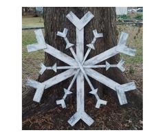 Giant Pallet Wood Snowflake