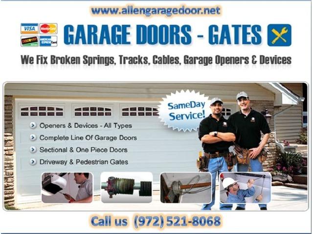 Residential Garage Door Spring Repair In Allen Tx Starting Only