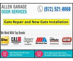 New Gate Installation in Allen, TX | Call us 9725218068 | Start $26.95