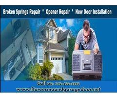 Emergency Garage Door Spring Repair Service in Flower Mound, TX