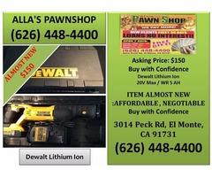 Alla's Pawn Shop Dewalt Lithium Ion