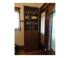 shelves with glass doors