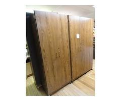 Book shelves with doors