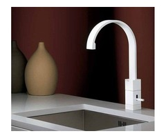 White kitchen faucet  -Pfirst Pull-Out Spray Kitchen Faucet White
