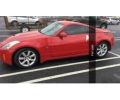 2003 Red Nissan 350z