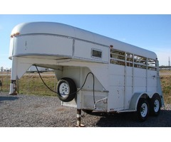 1997 White 2 Horse Stock Trailer