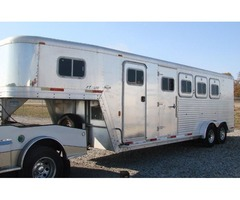 2007 Exiss 4 Horse Slant All Aluminum Horse Trailer