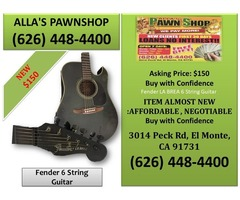 Alla's Pawn Shop : Fender 6 String Guitar