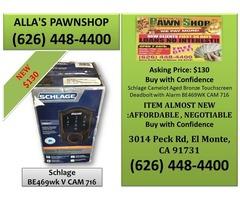 Alla's Pawn Shop : Schlage  BE469wk V CAM 716