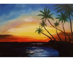 Hand Painted Acrylic Paintings Original bargain ooak Home Decor