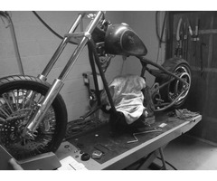 harley hardtail rolling assembly