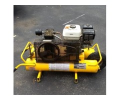 Air Compressor, Honda 5.5 HP, Industrial, Portable, Super High Flow, Belt Drive