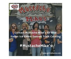 Hire Mustache Mike's Italian Ice Cream Catering Services for Your Events