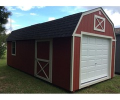 12x24 Custom Lofted Portable Building $257/mo - No Credit Check & Free Delivery