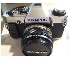 Olympus 35mm film camera, and accessories