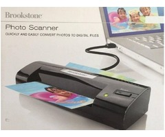 Photo Scanner Brookstone Convert to Digital Files