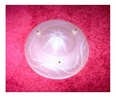 Antique Frosted Glass Light Fixture
