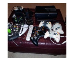 Xbox 360 with many accessories