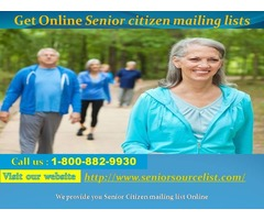 Get Online Senior citizen mailing lists