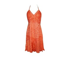 Womens Strap Dress Embroidered Red Long A Line Flare Sundress
