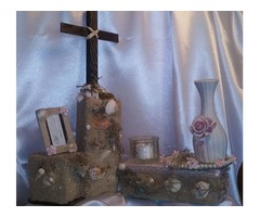 Handcrafted Gospel Centerpieces/Memoirs/and Crematorial Boxes