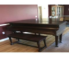 """Chickering 6'5"""" mahogany grand piano"""