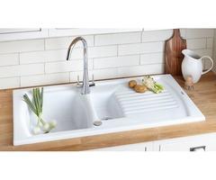 Best White kitchen sink- Undermount White Fireclay Kitchen Sink - FAUCETSCOMPLETE