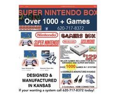 Super Nintendo Systems / Nintendo 1500 Games We Ship