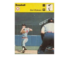 Bert Blyeven 1978 Sportcaster Major League Pitcher from Holland