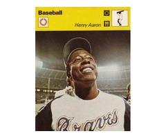 Henry/Hank Aaron 1977 Sportcaster Hammerin Hank