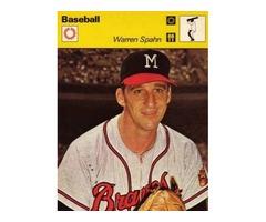 Warren Spahn 1978 Sportcaster Best Southpaw NL History