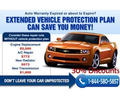 Extended Auto Warranty 30-40% Discounts Call us now 1-844-580-5857