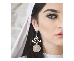 ALANGOO- Persian Calligraphy Earring & Calligraphy Necklace