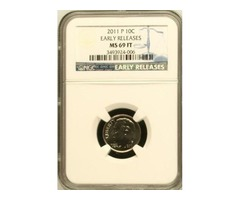 2011-P ROOSEVELT DIME NGC MS69 FT FINEST REGISTRY ER