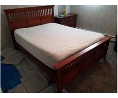Oak Bed Frame, Queen