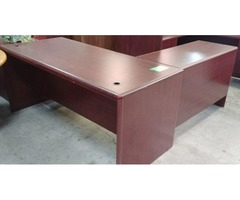 Pre-Owned L-Shape Desk Available Now