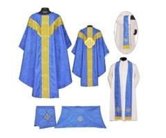 Dark Blue Gothic Vestment & Mass Set, Chasuble2