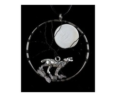 Buy the best collection of crystal wolf necklaces – 10% off