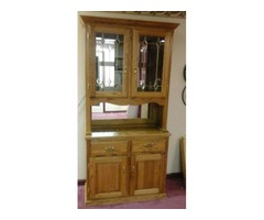 Dining Room Curio with mirrors and lights